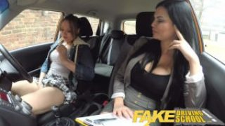 Fake Driving School – Busty Mature Examiner Fucks Daddy's Girl