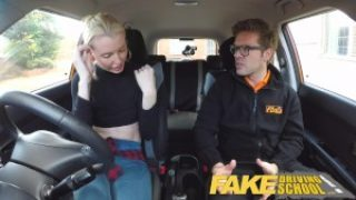 Fake Driving School – Nasty Blonde Gets A Pussy Creampie