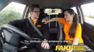Fake Driving School – English Teen Gets Fucked After Drivers Lesson