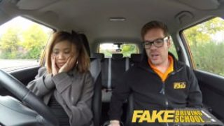 Fake Driving School – Young Ebony Fucks To Pass The Exam