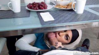Arab Pornstars Mia Khalifa and Julianna Vega Fuck Big Dick White Devil