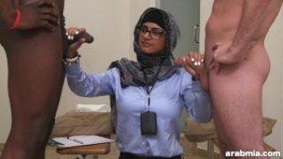 Mia Khalifa Arab Pornstar Measures White Cock VS Black Cock