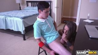 BANGBROS – Step Sister Evelin Stone Catches Juan El Caballo Loco Jerking Off