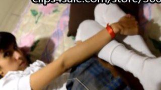 sockjob Cumming on real schoolgirl's socks footjob fetish