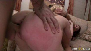 Hot busty blonde slut is punished & fucked in hardcore threesome