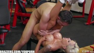 Nina Elle takes a big dick at the gym – Brazzers