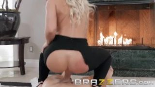 Brazzers – Cali Carter loves anal by the fire place
