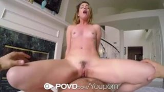 POVD Car fingered and fucked with brunette
