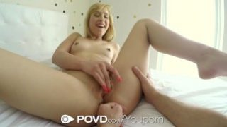 POVD – Guy chases his girl Goldie for some hot young pussy