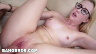 BANGBROS – Petite blonde gets a mouthful to swallow