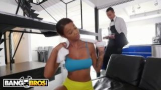 BANGBROS – Ebony Harley Dean Making Butler's Day With Her Big Tits and Big Ass