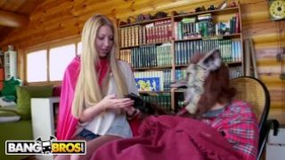 BANGBROS – Busty Blonde Lexi Lowe Runs Into The Big Bad Wolf In The Woods!