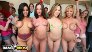BANGBROS – Jada Stevens, Diamond Kitty, Alexis Fawx and Kristina Rose on Dorm Invasion