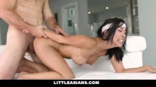 LittleAsians – Korean Girl Honey Moon Pounded By Big White Cock
