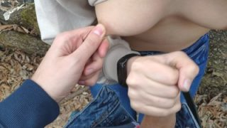 Cum 4k – Handjob in forest and huge