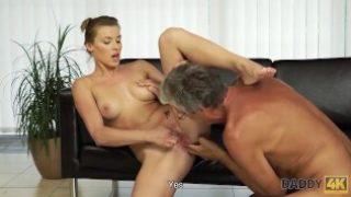 Daddy 4K – Mature gentleman enjoys forbidden sex with young hottie