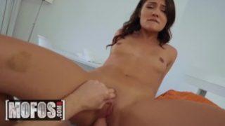 MOFOS – Small tit amateur Adria Rae deepthroats POV